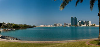 abu al bateen dhabi panoramę Zdjęcie Royalty Free