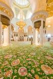 Abu Dabi - 9 Ιανουαρίου 2015: Sheikh μουσουλμανικό τέμενος Zayed επάνω Στοκ Φωτογραφία