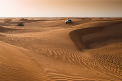 Abu dabi desert. Abu dhabi desert with jeep safari royalty free stock photos