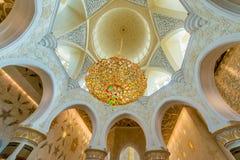 Abu Dabi - 9. Januar 2015: Sheikh Zayed-Moschee an Stockfoto