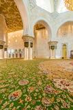 Abu Dabi - 9. Januar 2015: Sheikh Zayed-Moschee Stockbilder