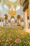 Abu Dabi - 9. Januar 2015: Sheikh Zayed-Moschee an Lizenzfreie Stockbilder