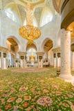 Abu Dabi - 9. Januar 2015: Sheikh Zayed-Moschee Lizenzfreie Stockfotos
