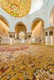 Abu Dabi - 9. Januar 2015: Sheikh Zayed-Moschee an Lizenzfreie Stockfotografie