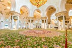 Abu Dabi - JANUARY 9, 2015: Sheikh Zayed mosque on Stock Photography