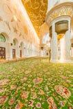 Abu Dabi - JANUARY 9, 2015: Sheikh Zayed mosque on Royalty Free Stock Photography