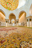 Abu Dabi - JANUARY 9, 2015: Sheikh Zayed mosque on Royalty Free Stock Photography