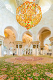 Abu Dabi - JANUARY 9, 2015: Sheikh Zayed mosque on Royalty Free Stock Photo