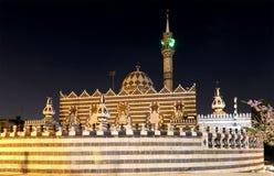 Abu Darweesh Mosque Amman (la nuit), Jordanie Image libre de droits