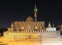 Abu Darweesh Mosque Amman (la nuit), Jordanie Photos libres de droits