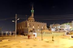 Abu Darweesh Mosque Amman (nachts), Jordanien Lizenzfreies Stockbild