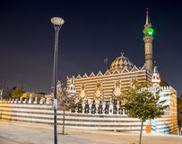 Abu Darweesh Mosque Amman (at night), Jordan. Was built in 1961 by the Circassian community which came to settle in Amman Royalty Free Stock Photography