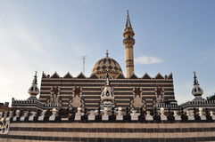 Abu Darwish Mosque. Mosaic Mosque in Amman,Jordan Stock Photos