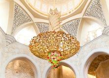 abu dekoraci dhabi meczetowy sheikh zayed Obrazy Stock