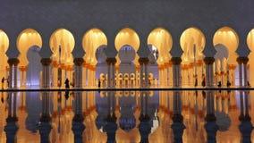 Abu Dhabi Мечеть шейха Zayed Bin Султана Al Nahyan, Абу-Даби, ОАЭ сток-видео