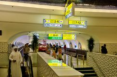 Abu Dhabi Airport-Abfertigung Lizenzfreie Stockfotos