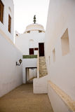 Abu Dhabi alley in fort. Vertical view of the interior of fort in Abu Dhabi in UAE royalty free stock photography