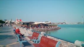 Abu dhabi bay sunny 4k time lapse Stock Images