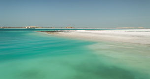 Abu Dhabi Beach. Abu Dhabi ocean and beach, the water has incredible colors typical of exotic sea stock photos