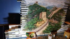 Abu Dhabi Book fair 2017 China wall painting stock images