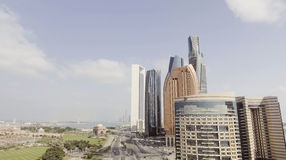 Abu Dhabi buildings - Aerial viee from Corniche Road Stock Image