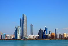 Abu Dhabi Buildings Royalty Free Stock Photography