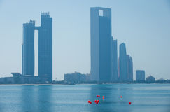 Abu dhabi buildings Royalty Free Stock Images