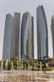 Abu Dhabi Business Hub Buidings, UAE Lizenzfreie Stockfotos