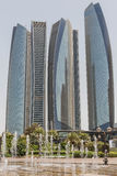 Abu Dhabi Business Hub Buidings, UAE Stockfoto