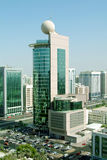Abu Dhabi City. Abu Dhabi main city overlooking the Etisalat Tower Royalty Free Stock Photography