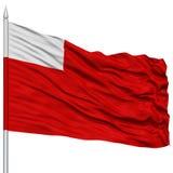 Abu Dhabi City Flag sur le mât de drapeau Photographie stock