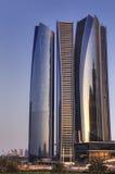 Abu Dhabi city by night Stock Photo