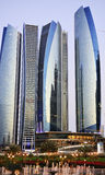 Abu Dhabi city by night Royalty Free Stock Photos