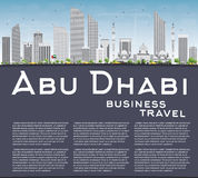 Abu Dhabi City Skyline avec l'espace de Gray Buildings et de copie Illustration Stock