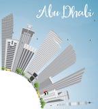 Abu Dhabi City Skyline con el espacio de Gray Buildings y de la copia Fotografía de archivo