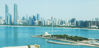 Abu Dhabi City View Stockbild