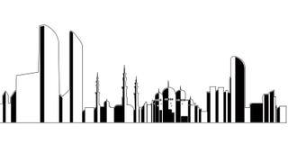 Abu Dhabi Cityscape illustration de vecteur