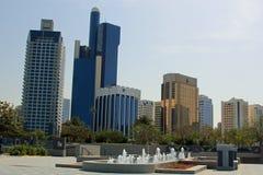 Abu Dhabi Cityscape Stockfotos