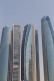 Abu Dhabi Cityscape mit Geschäfts-Nabe, UAE Lizenzfreie Stockfotos