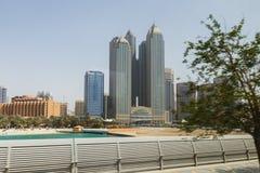 Abu Dhabi Cityscape in UAE Stockfotografie