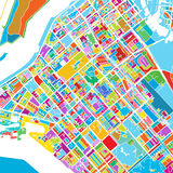 Abu Dhabi Colorful Vector Map illustrazione vettoriale