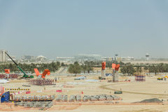 Abu Dhabi Construction Site, UAE Lizenzfreies Stockfoto