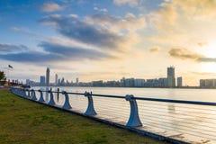 Abu Dhabi-corniche Stockbild