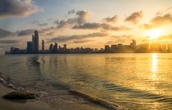 Abu dhabi corniche Royalty Free Stock Photo