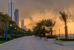 Abu dhabi corniche Royalty Free Stock Photography