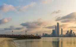 Abu dhabi corniche Royalty Free Stock Photos