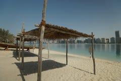 Abu Dhabi day sailing curtains Stock Photo