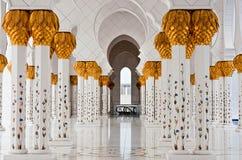 ABU DHABI - 5 DE JUNHO: Sheikh Zayed Mosque Foto de Stock Royalty Free