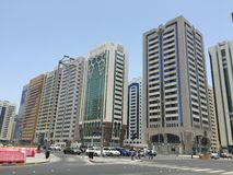 Abu Dhabi de stad in Stock Foto's