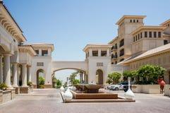 Abu Dhabi De zomer van 2016 Helder en modern binnenlands luxehotel St Regis Saadiyat Island Resort Royalty-vrije Stock Afbeeldingen